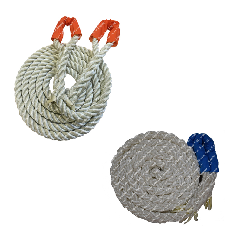 pangu 3 strand nylon kinetic recovery rope